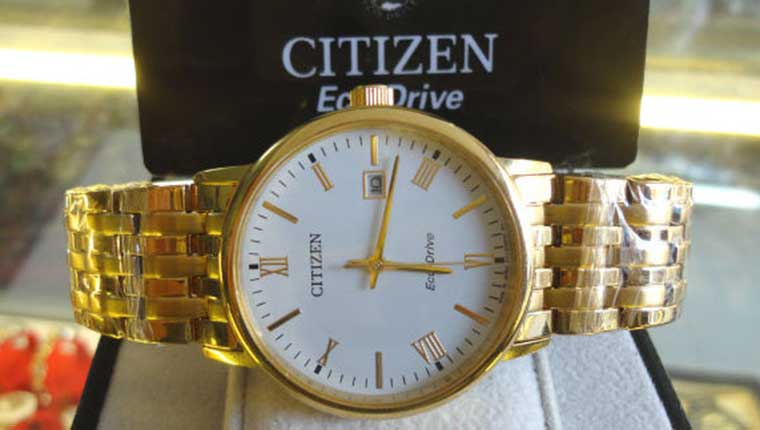 Đồng hồ Citizen Eco Drive Full Gold