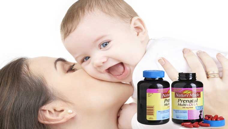 Dưỡng chất cho bà bầu Nature Made Prenatal Multi DHA