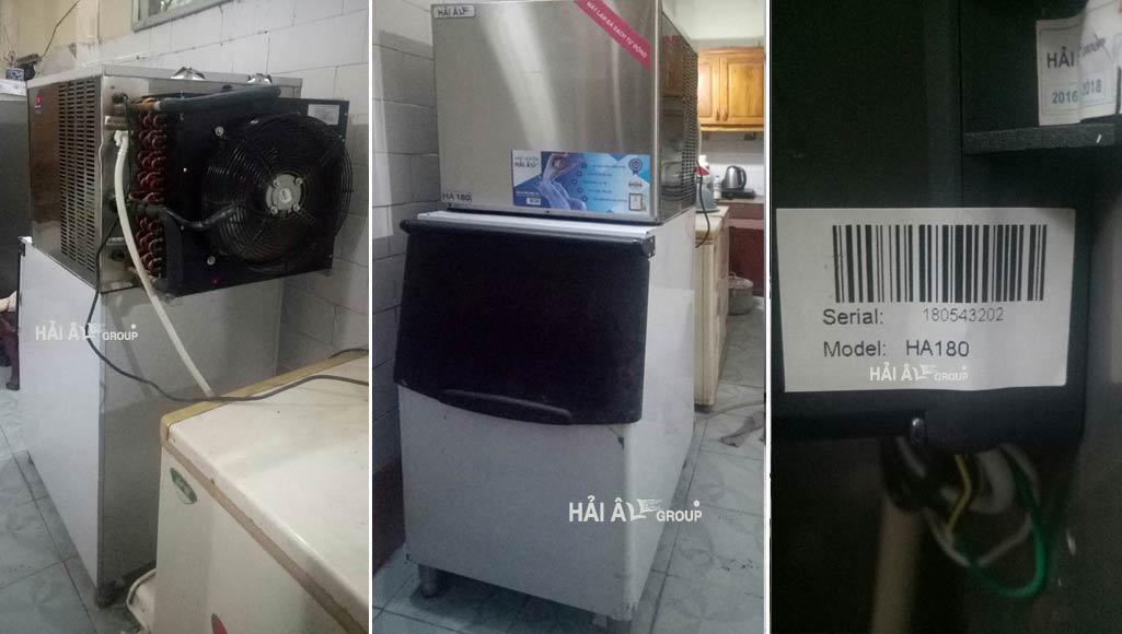 ảnh nghiệm thu sản phẩm máy làm đá ha180