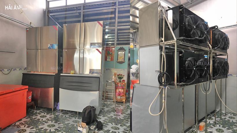 máy làm đá viên Hải Âu HA 1800 tại nhà khách hàng