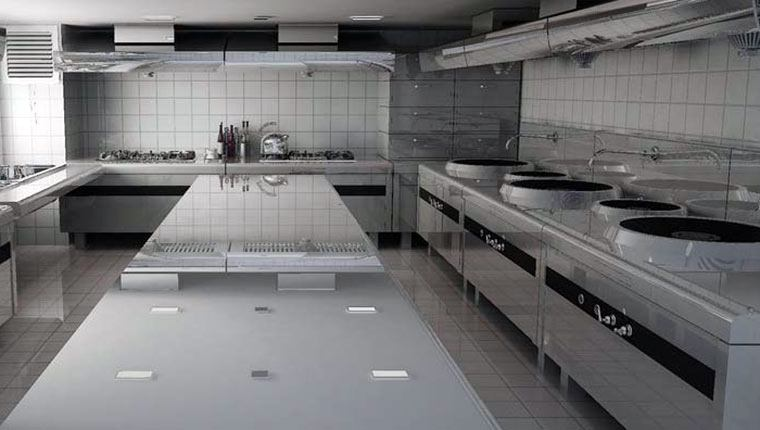 gian bếp công nghiệp