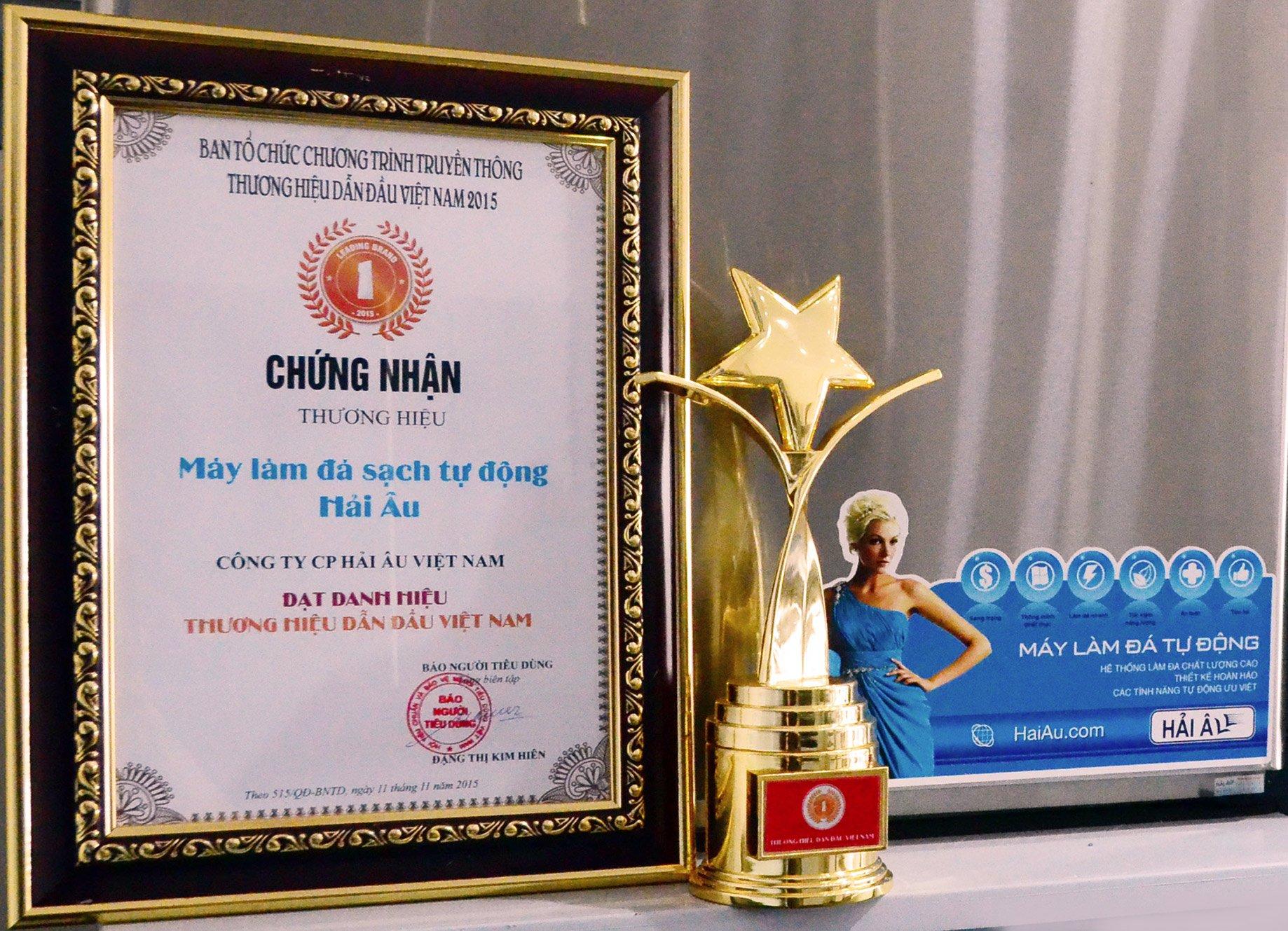Máy làm đá Hải Âu thuộc top 100 thương hiệu Việt Nam 2015
