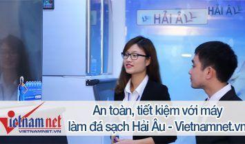 máy làm đá hải âu trên báo vietnamnet