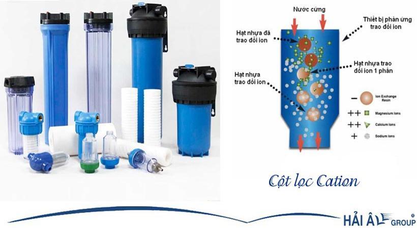 Cột lọc Cation làm mềm nước tối đa và chi phí hợp lý nhất