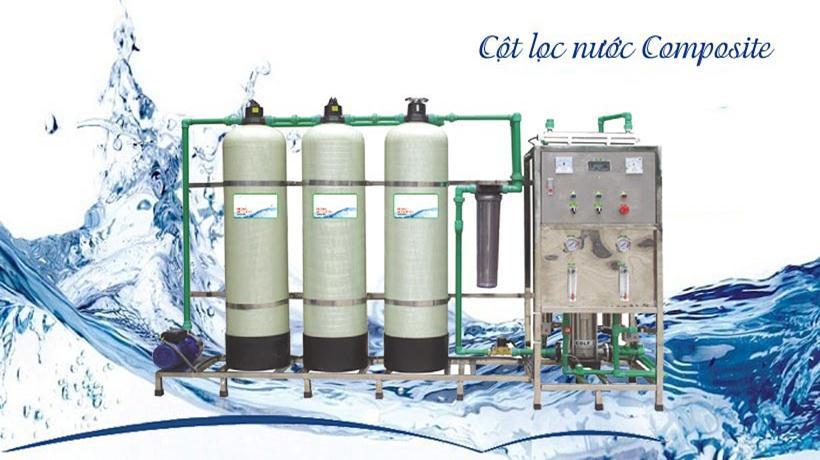 Phương pháp lọc nước dùng cột lọc Composite 4 cấp lọc