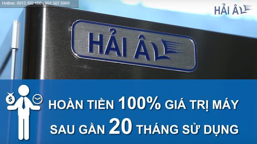 Sử dụng máy làm đá HA 180 thu lại 100% tiền mua máy sau gần 20 tháng