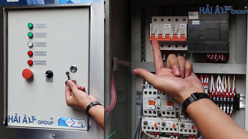 Hộp điều khiển của máy làm đá vảy HAV 600