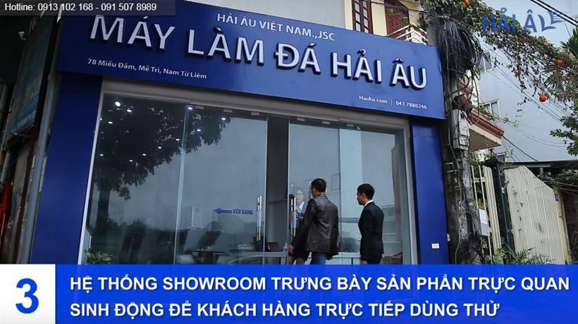 Showroom máy làm đá Hải Âu tại Hà Nội