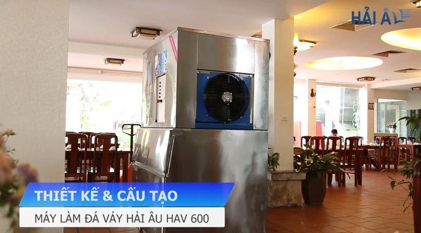 Thiết kế và cấu tạo máy làm đá vảy HAV 600