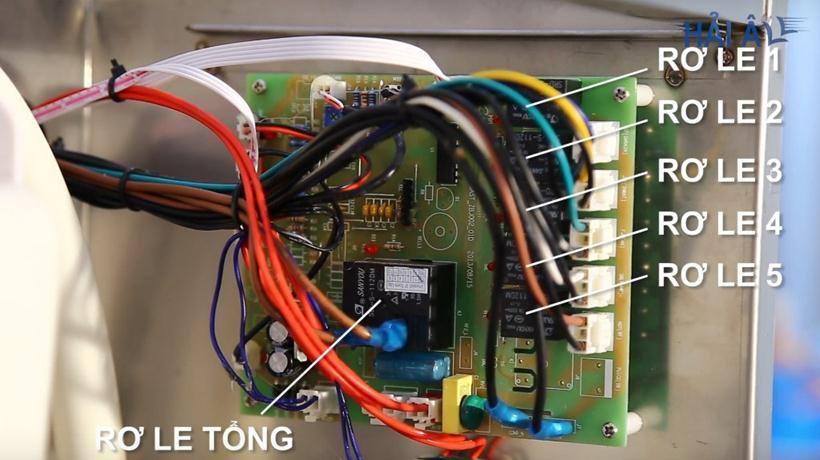 Bảng mạch điện tử của máy làm đá HA 300