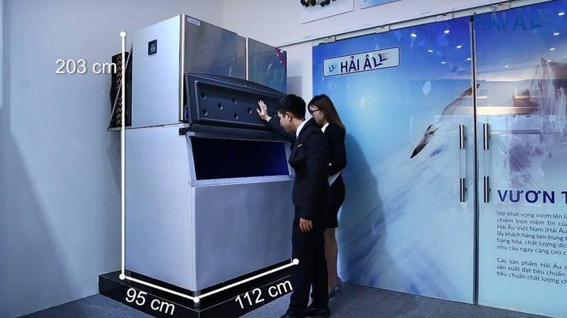 Kích thước máy làm đá HA 900