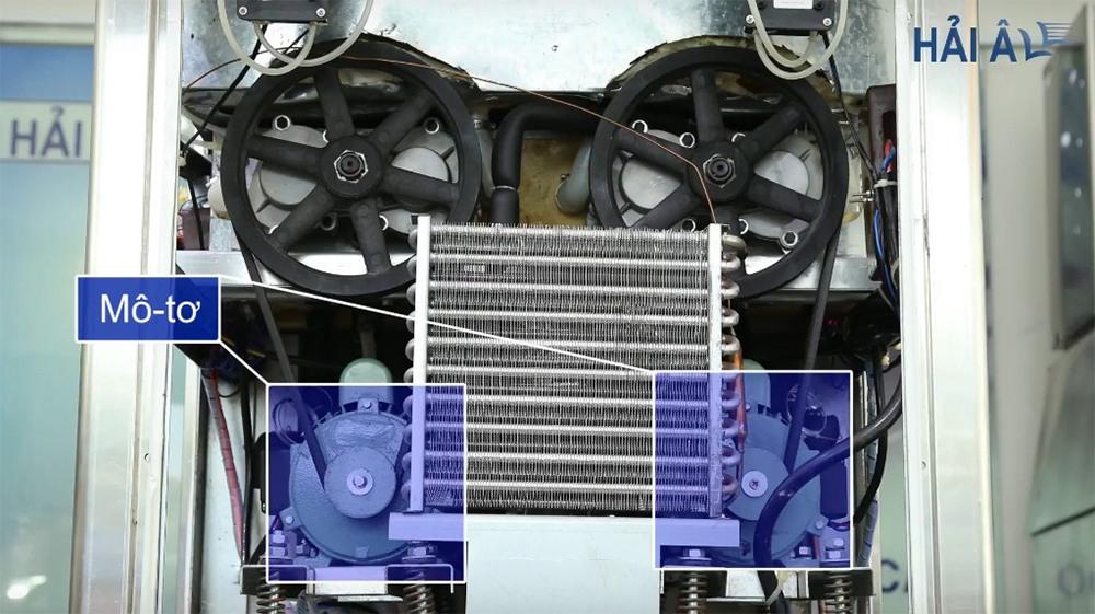 Mô tơ máy làm kem Hải Âu – Một trong những linh kiện sử dụng dầu bôi trơn