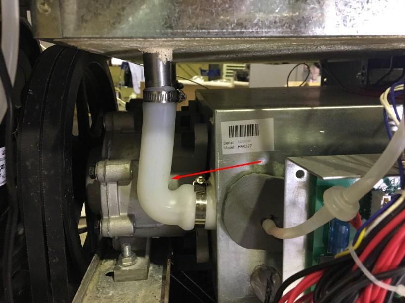 Ống nối mềm dẫn nguyên liệu của máy làm kem Hải Âu