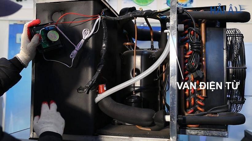 Van điện từ của máy làm đá Hải Âu