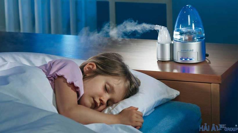 Sử dụng máy phun sương tạo ẩm trong phòng điều hòa