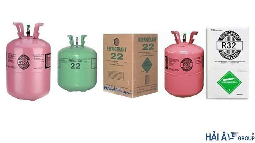 Một số loại gas dùng trong điện lạnh
