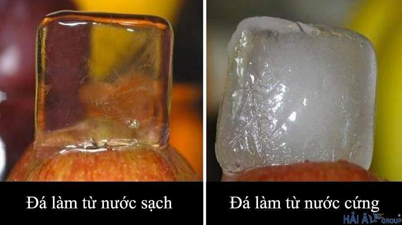 Phân biệt đá làm từ nước sạch và đá làm từ nước cứng
