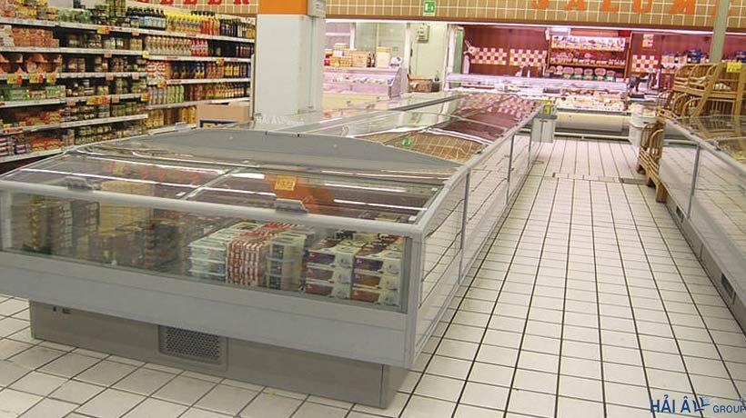 Tủ đông công nghiệp loại trưng bày trong siêu thị