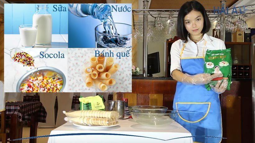 quy trình làm kem tươi