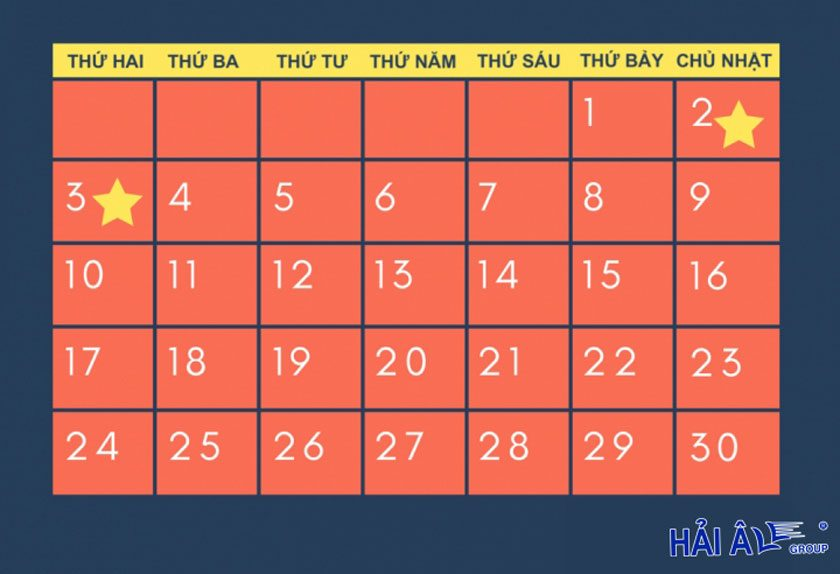 lịch nghỉ lễ 2-9