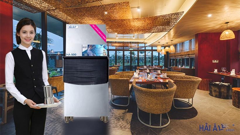 Máy làm đá viên 500kg phục vụ cho nhà hàng