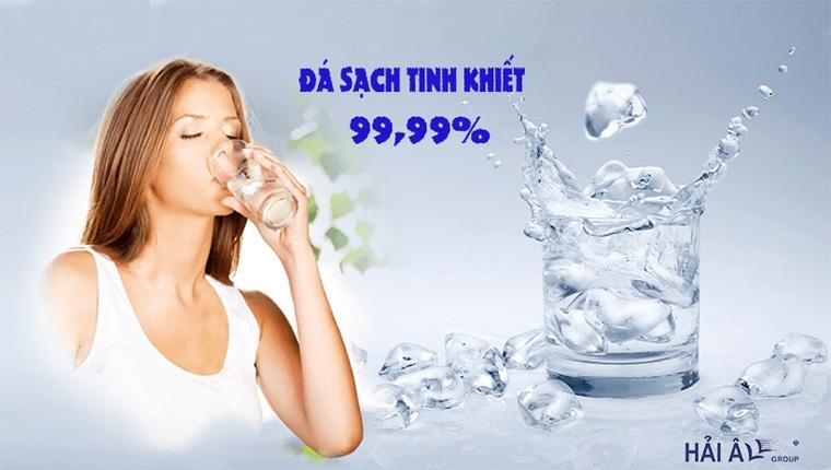 Đá viên sạch tinh khiết, đảm bảo an toàn sức khỏe