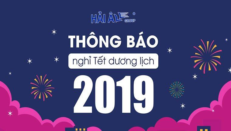 hải âu group thông báo lịch nghỉ tết dương 2019