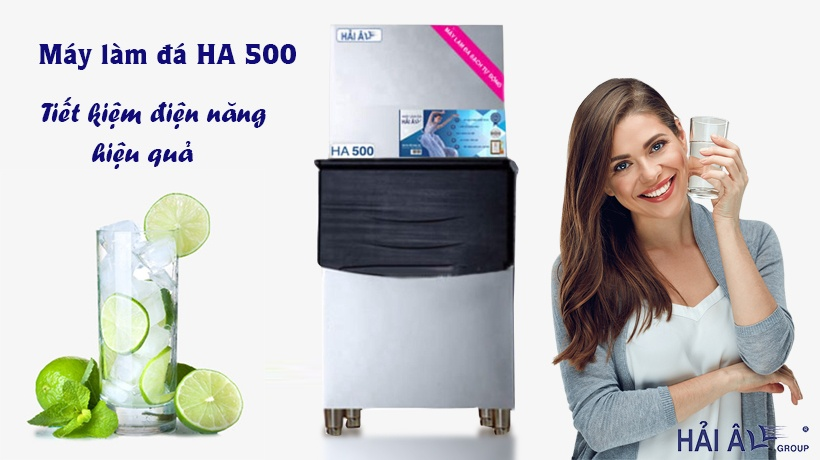 Máy làm đá HA 500 tiết kiệm điện năng hiệu quả