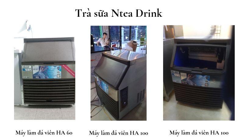 Trà sữa Ntea Drink đang sử dụng các model máy làm đá HA 60, HA 100