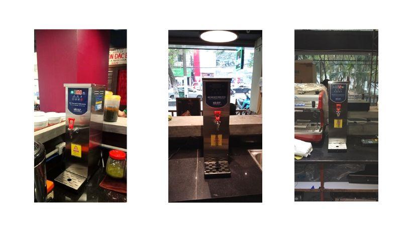 AHA Cafe sử dụng máy đun nước nóng Hải Âu