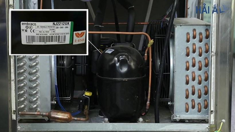 Linh kiện máy làm kem tươi Hải Âu được nhập khẩu theo tiêu chuẩn châu Âu.