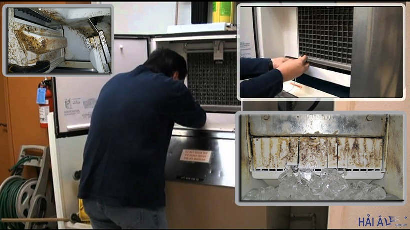 Máy làm đá viên cũ có thể gây ảnh hưởng đến sản lượng cũng như chất lượng thành phẩm