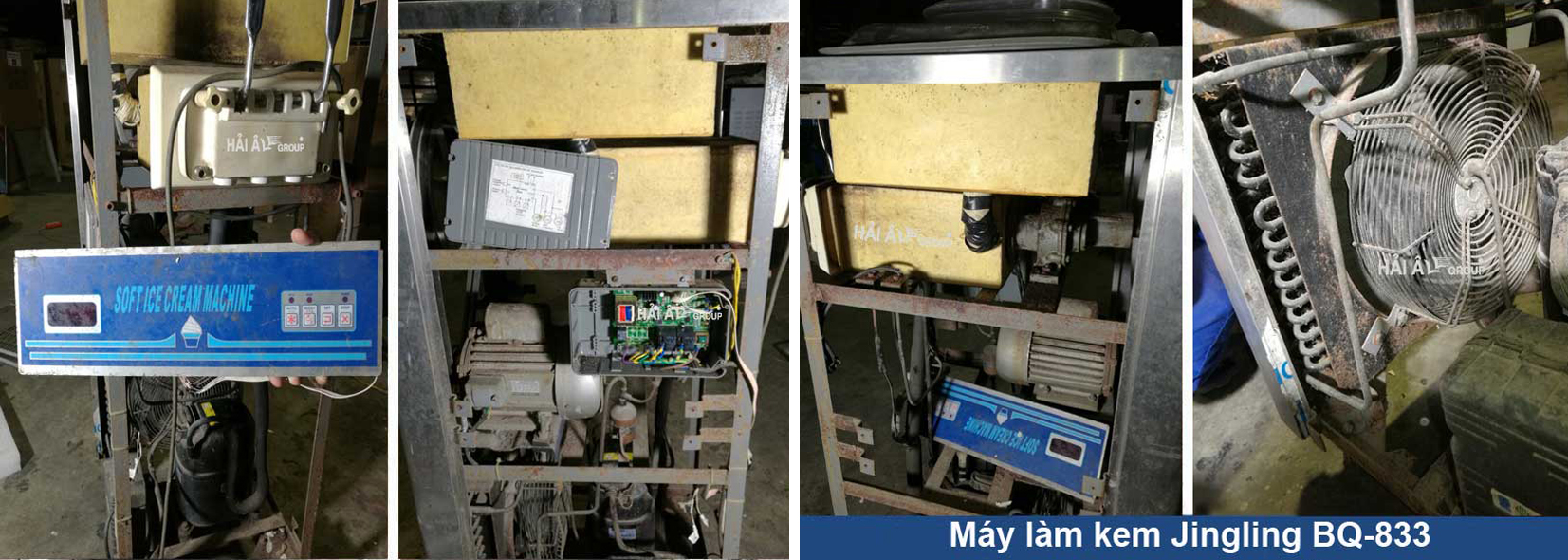 Sửa chữa máy làm kem tươi Jingling BQ 833