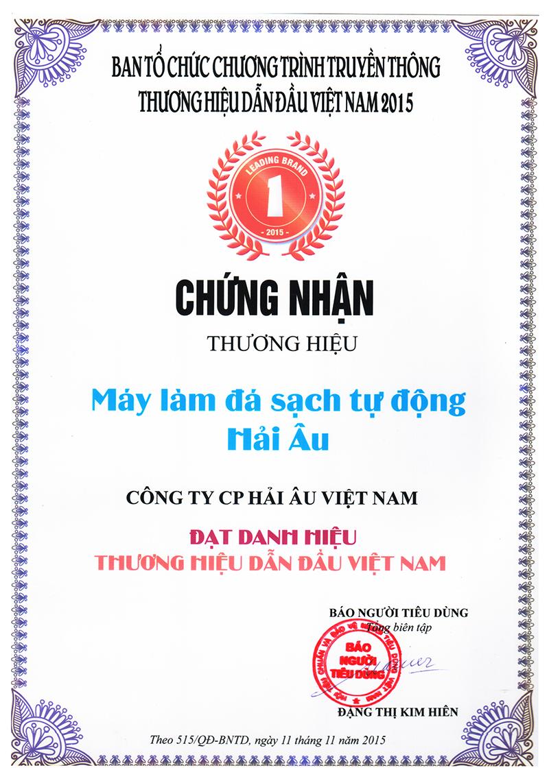 Top 100 Thương hiệu dẫn đầu Việt Nam năm 2015