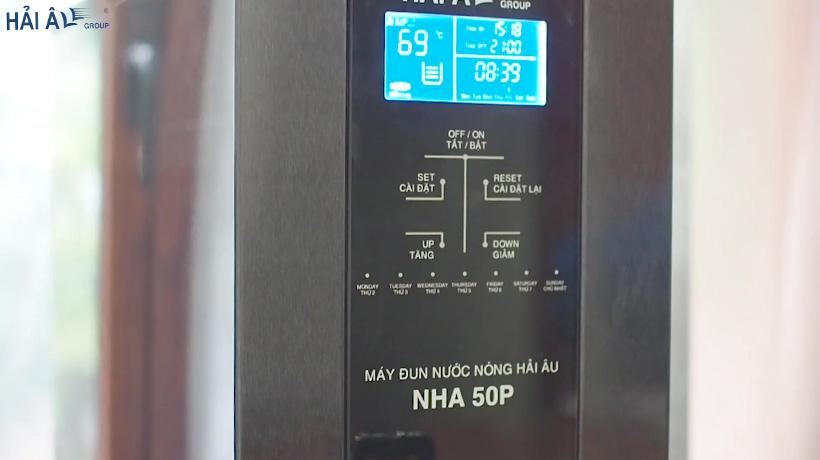 bảng điều khiển máy đun nước nóng cao cấp Hải Âu NHA50P