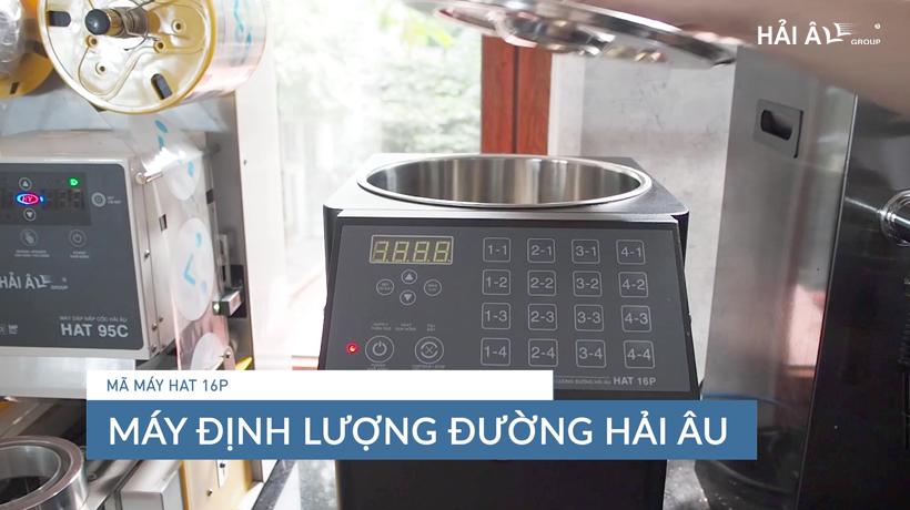 thiết bị mở quán trà sữa - máy định lượng đườngm
