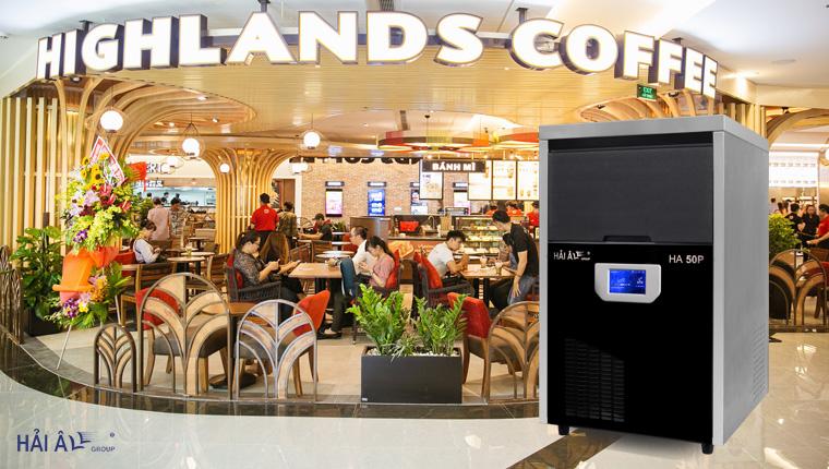 highland lựa chọn máy làm đá cà phê hải âu