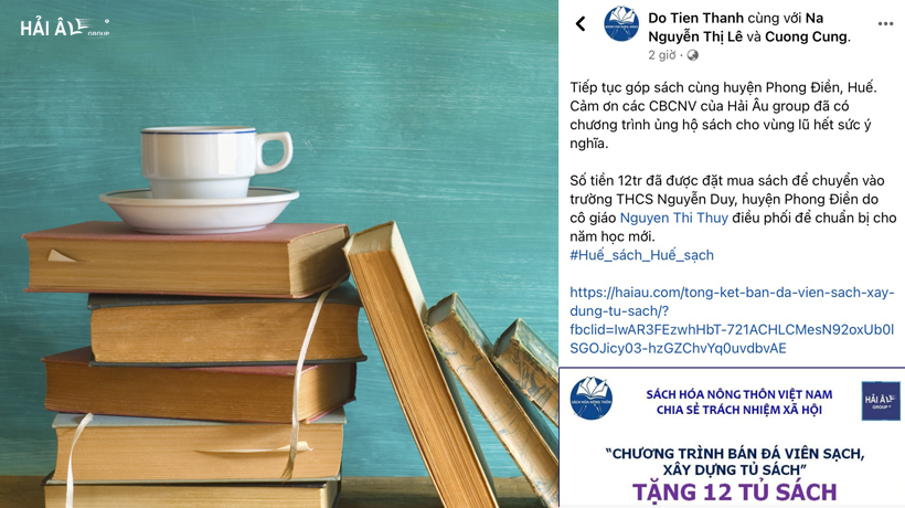 Hải Âu Group đóng góp 12 tủ sách