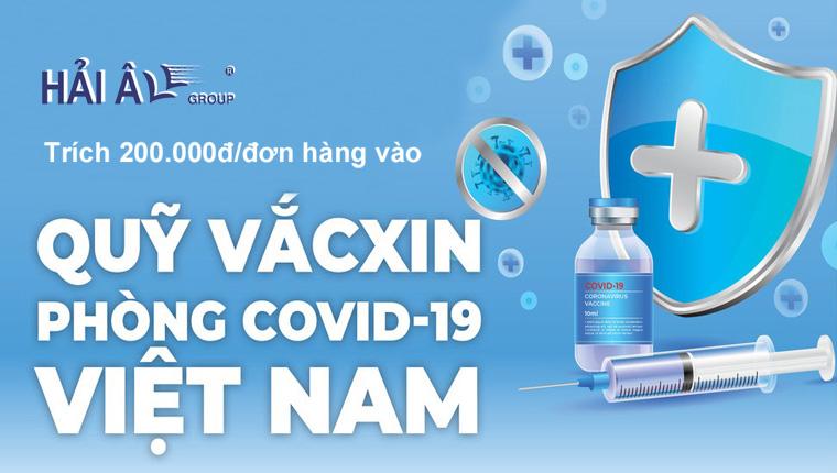 cùng Hải Âu Group ủng hộ quỹ vắc xin covid19